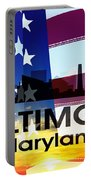 Baltimore Md Patriotic Large Cityscape Portable Battery Charger