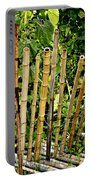 Bamboo Fencing Portable Battery Charger by Lilliana Mendez