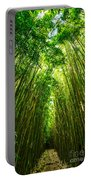 Bamboo Sky - The Magical And Mysterious Bamboo Forest Of Maui. Portable Battery Charger