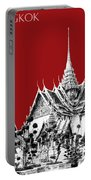 Bangkok Thailand Skyline Grand Palace - Dark Red Portable Battery Charger