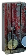 Banjos Against A Barn Door Portable Battery Charger