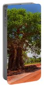 Baobab Tree On Red Soil Road Portable Battery Charger
