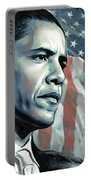 Barack Obama Artwork 2 B Portable Battery Charger