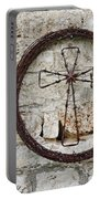 Barbed Wire Cross Portable Battery Charger