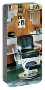 Barber - Barber Shop One Chair Portable Battery Charger by Susan Savad