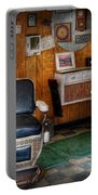 Barber - Frenchtown Nj - Two Old Barber Chairs  Portable Battery Charger by Mike Savad
