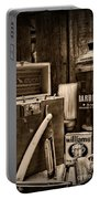 Barber - Vintage Barber Tools - Black And White Portable Battery Charger