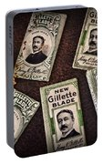 Barber - Vintage Gillette Razor Blades Portable Battery Charger