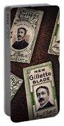 Barber - Vintage Gillette Razor Blades Portable Battery Charger