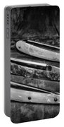 Barber - Vintage Razors In Black And White Portable Battery Charger
