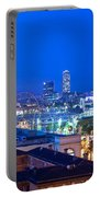 Barcelona And Its Skyline At Night Portable Battery Charger