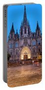 Barcelona Cathedral In The Evening Portable Battery Charger
