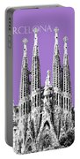 Barcelona Skyline La Sagrada Familia - Violet Portable Battery Charger