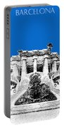 Barcelona Skyline Park Guell - Blue Portable Battery Charger