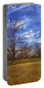 Bare Pecan Trees Portable Battery Charger