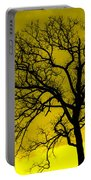 Bare Tree Against Yellow Background E88 Portable Battery Charger