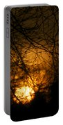 Bare Tree Branches With Winter Sunrise Portable Battery Charger