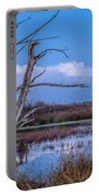 Bare Tree In Marsh Portable Battery Charger