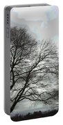 Bare Trees Winter Sky Portable Battery Charger