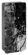 Bark And Trees In Winter Portable Battery Charger