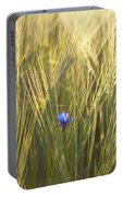 Barley And Corn Flowers In The Field Portable Battery Charger