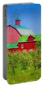 Barn And Apple Orchard Portable Battery Charger
