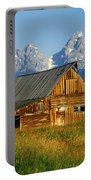 1m9394-barn And The Tetons Portable Battery Charger