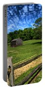 Barn At Hartwood Acres Under Beautiful Sky Portable Battery Charger