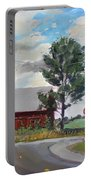 Barn By Lockport Rd Portable Battery Charger by Ylli Haruni