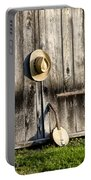 Barn Door And Banjo Mandolin Portable Battery Charger by Bill Cannon
