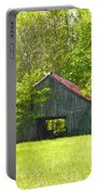 Barn From The Forgotten Farm Portable Battery Charger
