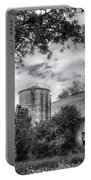 Barn In Black And White Portable Battery Charger