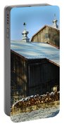 Barn In Snow Portable Battery Charger