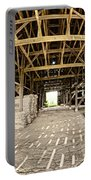 Barn Interior Portable Battery Charger