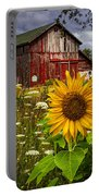Barn Meadow Flowers Portable Battery Charger
