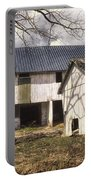 Barn Near Utica Mills Covered Bridge Portable Battery Charger