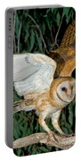 Barn Owl Alights Portable Battery Charger