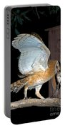 Barn Owl With Rat Portable Battery Charger