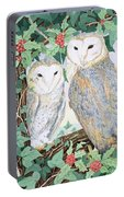 Barn Owls Portable Battery Charger