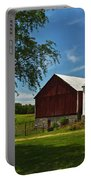 Barn Painting Portable Battery Charger