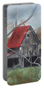 Barn - Red Roof - Autumn Portable Battery Charger