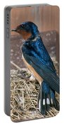 Barn Swallow At Nest Portable Battery Charger