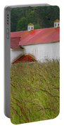 Barn With Blue Door Portable Battery Charger by Art Block Collections