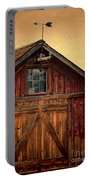 Barn With Weathervane Portable Battery Charger by Jill Battaglia