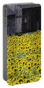Barns And Sunflowers Portable Battery Charger