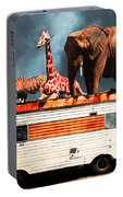 Barnum And Baileys Fabulous Road Trip Vacation Across The Usa Circa 2013 5d22705 With Text Portable Battery Charger