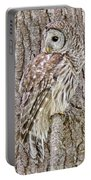 Barred Owl Camouflage Portable Battery Charger