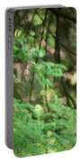 Barred Owl In Forest Portable Battery Charger