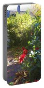 Bartram Red Flowers Portable Battery Charger