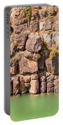 Basalt Rock Columns Of Miles Canyon Yukon Canada Portable Battery Charger